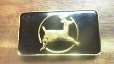 Deer on it Tu1 Solid Brass Belt Buckle with