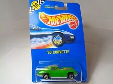 Hot Wheels  '63 Corvette green 1991  #1671