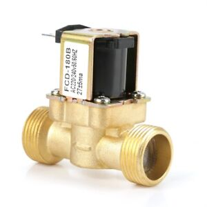 220/240V Brass G3/4 2 Way Water Inlet N/C Normal Closed Electric Solenoid Valve