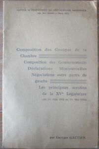 brochure Centre de propagande des Républicains nationaux février 1934 Stavisky