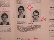 1986 Wabash College Men's Basketball Program(21 Signed/MAC  PETTY/MIKE  McCARTY)