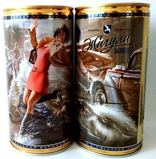 "Zhiguli beer can #26 ""Lady with a dog"" NEW Empty beer can 900 ml Bottom open."