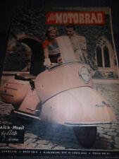 Zeitschrift Das Motorrad Heft Nr.8 April 1952 4.Jahrgang Maico Mobil Roller Bike