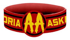 Asking Alexandria Circle Logo Dark Red Rubber Wristband