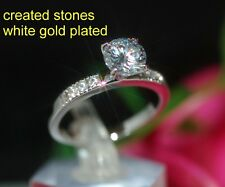 1ct round DIAM0ND with shoulder ring size P 8