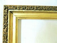 "Antique Fits 8 5/8 X 16"" Gold Picture Frame Wood Ornate Gesso Fine Art Country"