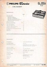 Manuel d'instructions service pour PHILIPS EL 3554, RK 37