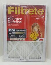 Filtrete 3M Micro Allergen Defense Air Filter 1000 Filtration 15x20x1
