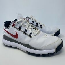 Nike Tiger Woods TW14 Golf Shoes Mens Size 9.5 White Black Red 599416-100