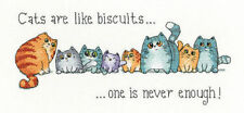Cats And Biscuits Quotes Kittens Cross Stitch Kit