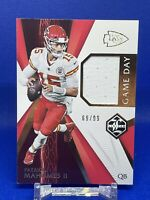 PATRICK MAHOMES 2020 PANINI LIMITED GAME DAY WORN JERSEY 69/99 KC CHIEFS