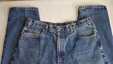 """Levi's 505 Men's Loose Straight Blue Denim Jeans SZ 36"""" x 32"""" Dungarees Q0020"""