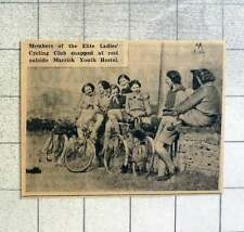 1939 Elite Ladies Cycling Club Resting Outside Marrick Youth Hostel