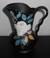 "ART DECO 30's Clive Brentleigh Ware ENGLAND Pitcher Black White Blue Peach 7"" T"