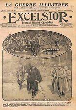 Raymond Poincaré & Général Roques Woêvre Région de Toul Lorraine  WWI 1916
