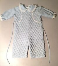 6d91ff19ec71 Vintage Lord   Taylor Betti Terrell Quilted Romper Size 6 - 9 Months  Blue White