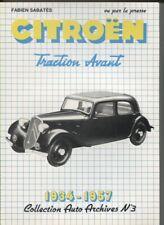 CITROEN  traction 1934-57  recueil d'articles de presse,photos   LIVRE NEUF