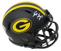 Brett Favre Signed Green Bay Packers Eclipse Riddell Speed Mini Helmet - SS COA