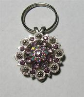WESTERN COWGIRL PURPLE/PINK   BERRY CONCHO KEY CHAIN