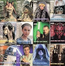 STAR WARS EPISODE 1 1991 FRITO LAY AMERICAN SET OF 12 GAME CARDS 3 PLAYED SP