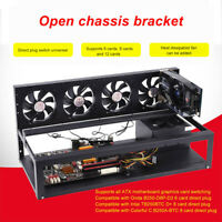 6GPU Open Air Mining Machine Case Frame Transfer Mining Rack Miner Coin Ring
