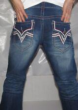 Men Authentic AFFLICTION Ace Straight Leg Jeans Size 30 Color Ruler
