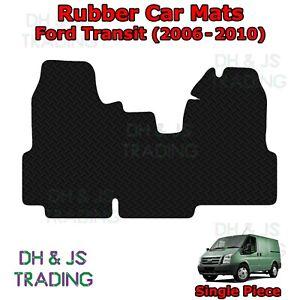 1pc Tailored Black Rubber Car Mat Set Fits Ford Transit Van (06-10)