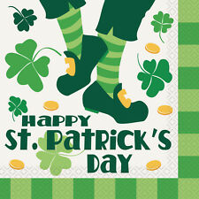 ST PATRICK'S DAY PARTY SUPPLIES ST PATRICK'S DAY JIG 16 X LUNCHEON SERVIETTES