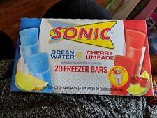 Sonic 20 Freezer Bars Ocean & Cherry Limeade