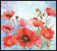 Red Poppies - Chart Counted Cross Stitch Pattern Needlework Xstitch craft DIY