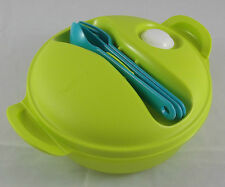Tupperware microtup crystal wave to Go Vaisselle 1 L rond vert clair vert nouveau neuf dans sa boîte