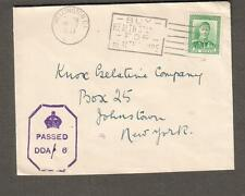 New Zealand 1943 WWII DDA/6 censor cover Wellington to USA/Buy Health Stamps