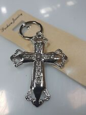 100x Keyring cross with diamonds bombonniere, wedding favour, key rings,keychain