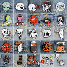 Halloween Cartoon Enamel Lapel Collar Piercing Brooch Pin Badges Corsage Jewelry