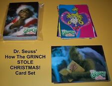 Dr. Suess' How The Grinch Stole Christmas! Trading Cards Base Set +