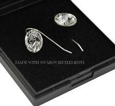 Silver Earrings Hook Earwire 12mm Rivoli Crystal (Clear)Crystals from Swarovski®
