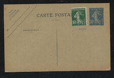 France  uprated postal  card   unused          KEL1228