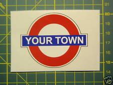 LAMBRETTA VESPA YOUR TOWN OR CLUB MOD Sticker SX,TV,GP