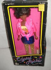 "#9502 RARE NRFB Vintage Tanline Crystal Rocker 11 1/2"" African American Doll"