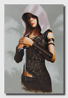 Original Oil Painting - Female Rogue - Assassin - Warcraft - Fantasy by M Timar