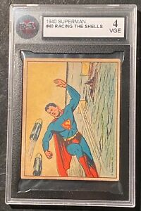 1940 Superman #40 Racing The Shells KSA 4 VGE ! RARE !