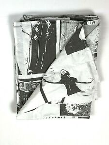 Ralph Lauren Extremely Rare Twin Flat Sheet Black White Limited Edition Theater