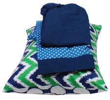 Bacati Mix N Match Blue/green Toddler Sheet Set (3 Pieces) Free Shipping