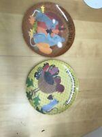 Pottery Barn Kids Set 2 Mouse Turkey Dinner Plates Thanksgiving Fall Melamine