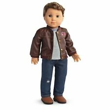 American Girl Logan Boy Performance Outfit Jeans Faux Leather Jacket Shirt Boots