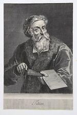 Gerard EDELINCK (1640-1707) Portrait du Titien gravure ancienne Tiziano Vecellio