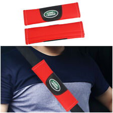 2Pcs Red High Quality Car Seat Belt Shoulder Cover Pad Fit For Land rover Auto