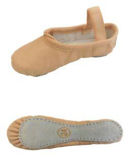 Ballerinas Ballet Leather Shoes Toddler Infant Baby Girl Dance Pumps Full Sole