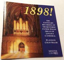 COLIN WALSH 1898! Lincoln Cathedral Organ CD 1998 centenary father willis organ