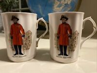 Royal Windsor Fine Bone China - Set Of Two Cups Chelsea Pensioner